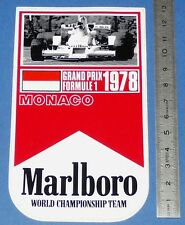 AUTO-COLLANT MONACO 1978 MALBORO WORLD CHAMPIONSHIP TEAM GRAND PRIX F1