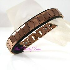Magnetic Bio Tungsten Arthritis CTS RSI Relief Ladies Mens Bronze Brown Bracelet