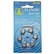 42 × A312 TIANQIU Hearing Aid Battery Brand New Factory Direct