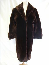 """Ladies Coat - Real Fur Pannofix from Hungary, 39/40"""" bust, brown, thick - 1834"""