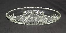 "Anchor Hocking EAPC *EARLY AMERICAN PRESCUT CRYSTAL *8 1/2"" PICKLE BOWL*"
