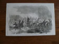 1861 Engraving-Dug Spring Missouri Cavalry Charge-Brooklyn Navy Yard-Original