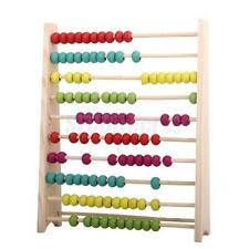 Classic Wooden Wood Abacus Preschool Kids Children Math Educational Toy