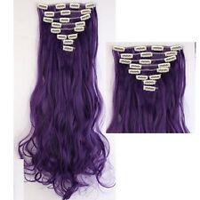 Real Human Made Thick Clip In Hair Extensions Straight Full Head Hair Extentions