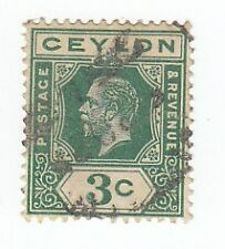BRITISH CEYLON 3c  KING GEORGE V 1919 ♣♣♣RARE♣♣♣