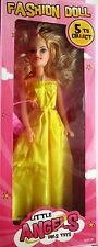 "11 "" (28cm che) LITTLE ANGELS FASHION doll-long GIALLO VESTITO CON BORSETTA bniob 2016"