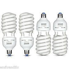 Neewer 4 Pack 45W 5500K Tri-phosphor Spiral CFL Daylight Balanced Light Bulb