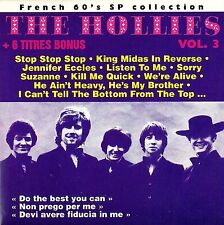 THE HOLLIES Vol. 3 FRENCH 60's EP Collection CD 8 BONUS Stop Stop Rock Near Mint