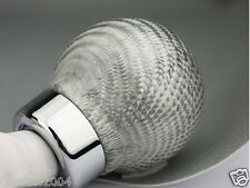 Car Truck Universal Manual Shift Shifter Knob Carbon Fiber Gear Lever #32 White