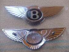 """Bentley Black Label Chrome Badge, small model 3 5/8"""", rear 2 screws for fitting"""