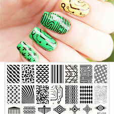 Nagel Schablone BORN PRETTY L009 Nail Art Stamp Stamping Template Plates