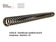 molle di   ricambio per carabine ad aria compressa   diametro  19 mm  filo  3 mm