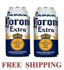 CORONA EXTRA 2 BEER CAN COOLERS KOOZIE COOLIE HUGGIE MODELO NEW