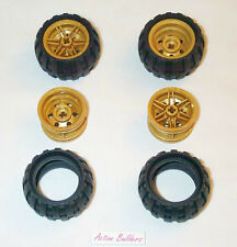 Lego Gold Wheels & Balloon Tires 43.2 mm 9444 Ninjago Chima