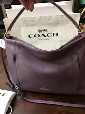 NWT Authentic Coach Scout Hobo Pebble Leather F34312 Lilac/Lavender