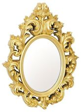 Catherine Lightweight Ornate Plastic High Gloss Frame Gold Wall Mirror