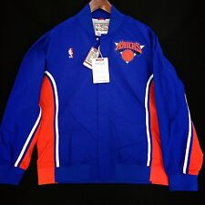 100% Authentic Mitchell & Ness New York Knicks Warm Up Shirt Jacket Size 52 2XL
