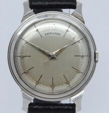 VINTAGE 1950's Hamilton Storm King 33mm Steel Mens Watch Manual 735 Mid Century
