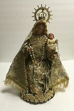 FIGURE STATUE OUR LADY OF ROSARY CHILD JESUS 12""