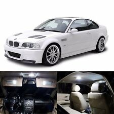 16 x Xenon White LED Interior Light Package For BMW 3 Series M3 E46 1999 - 2006