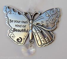 q Be your own kind of Beautiful BUTTERFLY BEAUTIFUL BLESSINGS ORNAMENT car charm