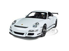 PORSCHE 911 (997) GT3 RS WHITE 1/18 DIECAST MODEL CAR BY WELLY 18015