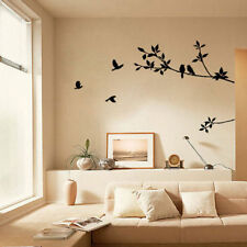 PVC Removable Tree Bird Art Vinyl Quote Decal Mural Room Decor Home Wall Sticker