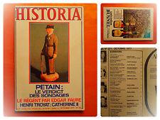 HISTORIA N° 371 -10/1977-Pétain, le verdict des sondages-Le Régent Edgar Faure