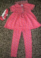 Gymboree French Country 3PC baby doll top/leggings/headband 2T 3T vintage
