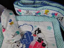 Looney Tunes WB Baby Crib Bumper Pad Comforter Sheet Bugs Bunny Tweety Sylvester