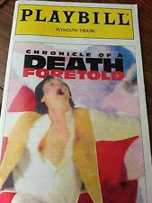 """Playbill from the 1995 Broadway Play """"Chronicle of a Death Foretold"""""""