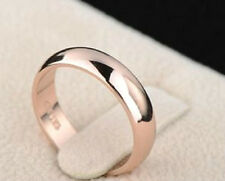18K ROSE GOLD PLATED SIMPLE BAND WEDDING RING MEN/WOMEN SIZE: L, N, O Q R1/2 +