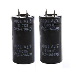 2Pcs Super Capacitor 2.7V 100F Ultra Capacitor Farad gg