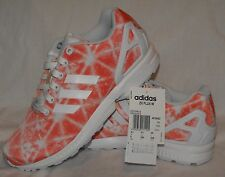 Adidas ZX Flux Womens - Orange/White - Size 6.5 - NEW trainers running shoes
