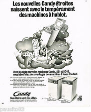 PUBLICITE ADVERTISING 065  1974  CANDY  les machines à laver S51 & SC 46
