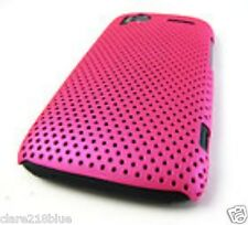 HTC Sensation 4G/G14 Pink Hard Mesh, Soft Gel Pink with White Flowers Cover Case