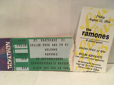 The Ramones Concert Ticket Stubs Set Of 2