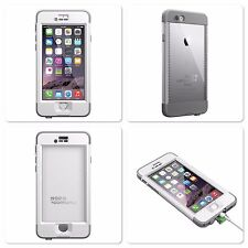 New LifeProof White Gray Nuud Series Apple iPhone 6 Waterproof Case