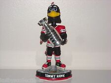 TOMMYHAWK Chicago Blackhawks Mascot Bobble Head Stanley Cup Champs Trophy New**