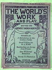 THE WORLD'S WORK & PLAY - Edwardian Shilling Monthly - Sept. 1905 - Henry Norman