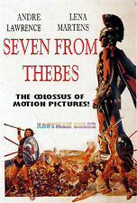 SEVEN FROM THEBES, 1964, Andre Lawrence, Lively Sword & Sandal Film, Good Print