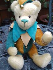 MOHAIR - JESTER BEAR - 3 COLOURS - FULLY JOINTED - 14""