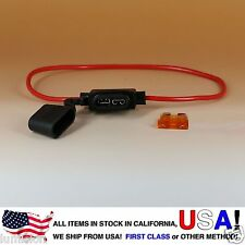 NEW ATO ATC Inline 16AWG Fuse Holder (Water Proof) + 5AMP FUSE