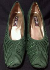 Womens Prevata Shoes Size 11AA Heels Pumps Dark Green Vero Cuoio Suede