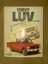 1977,1978 Chevy Luv truck complete orig. factory color sales brochure & insert