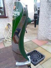 beer pump carlsberg with drip tray & frame very nice pump