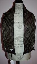 NWT Rare Girls BURBERRY Black Metallic Gold Check Scarf