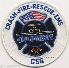 "Airport - Columbus - C.S.G. - C.F.R. - E.M.S., GA  (4"" round size) fire patch"