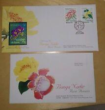 Malaysia China 2002 Royal Selangor Niobium Stamp FDC Rare Flowers Bunga Nadir