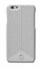 Genuine Mercedes-Benz Pure Line Perforated Leather Hard Case iPhone 6 & 6s Grey